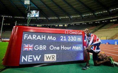 Mo Farah batió el récord mundial de la hora
